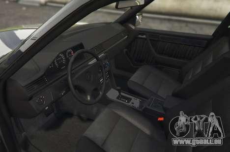 GTA 5 Mercedes-Benz E500 arrière vue latérale gauche