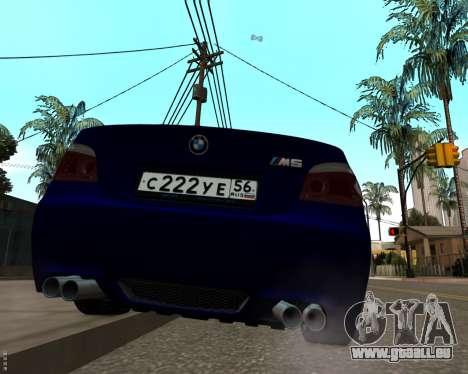 BMW M5 E60 v1.0 für GTA San Andreas rechten Ansicht