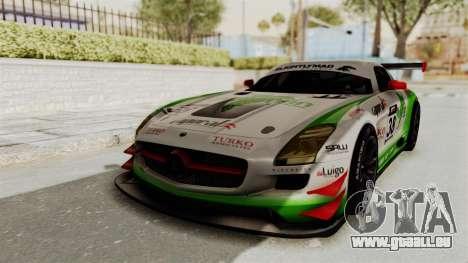 Mercedes-Benz SLS AMG GT3 PJ4 pour GTA San Andreas vue arrière