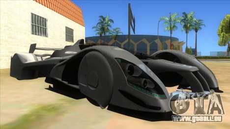 RedBull X2010 für GTA San Andreas Rückansicht