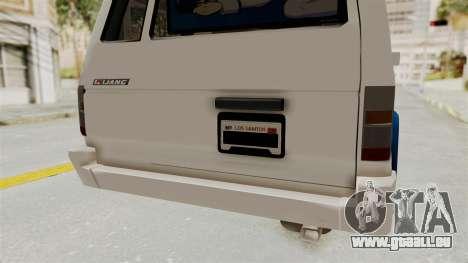 Toyota Kijang Miku Itasha Version pour GTA San Andreas vue de dessous