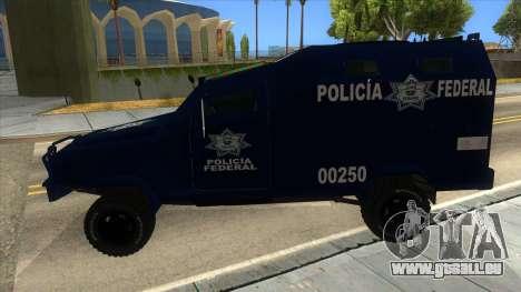 Black Scorpion Police für GTA San Andreas linke Ansicht
