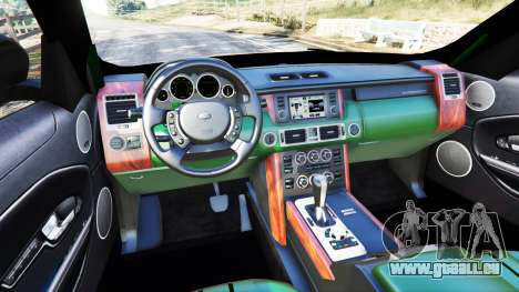 GTA 5 Range Rover Evoque arrière droit vue de côté