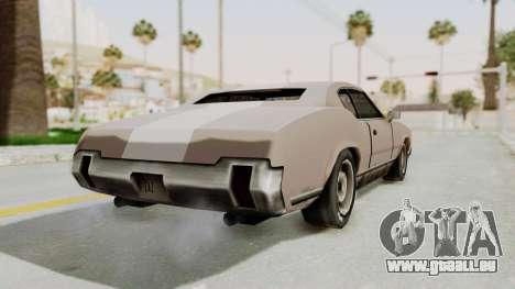 GTA Vice City - Sabre Turbo (Sprayable) pour GTA San Andreas laissé vue