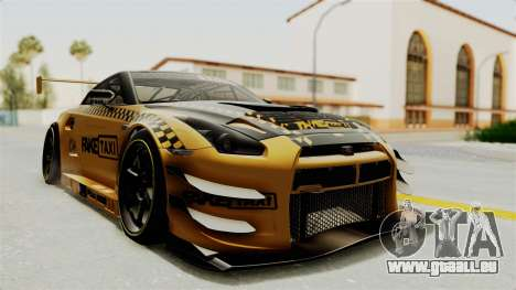Nissan GT-R Fake Taxi pour GTA San Andreas