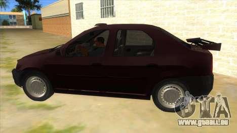 Dacia Logan Sport für GTA San Andreas linke Ansicht