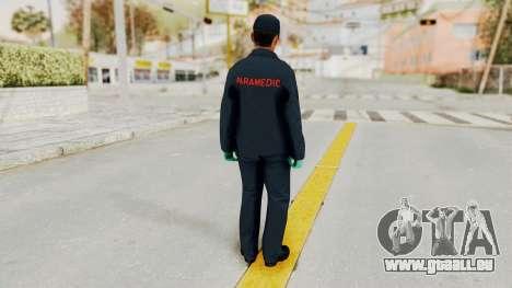 GTA 5 Paramedic SF pour GTA San Andreas troisième écran