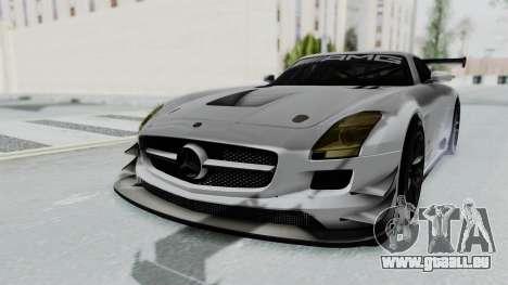 Mercedes-Benz SLS AMG GT3 PJ7 pour GTA San Andreas sur la vue arrière gauche