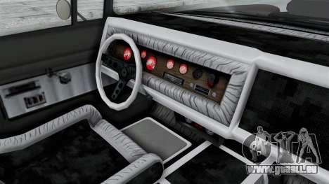 GTA 5 Declasse Tornado Hifi and Hydro IVF pour GTA San Andreas vue intérieure