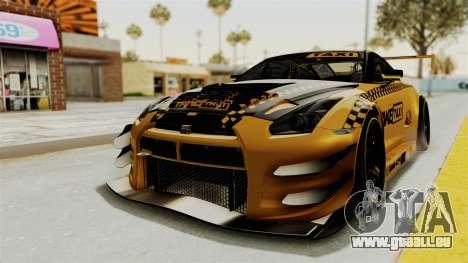 Nissan GT-R Fake Taxi für GTA San Andreas zurück linke Ansicht