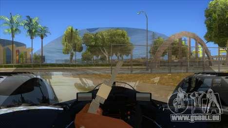 RedBull X2010 pour GTA San Andreas vue intérieure