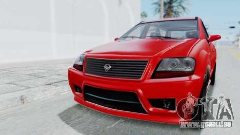 GTA 5 Benefactor Serrano pour GTA San Andreas laissé vue