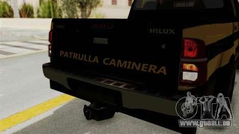 Toyota Hilux 2015 Patrulla Caminera Paraguaya pour GTA San Andreas vue intérieure