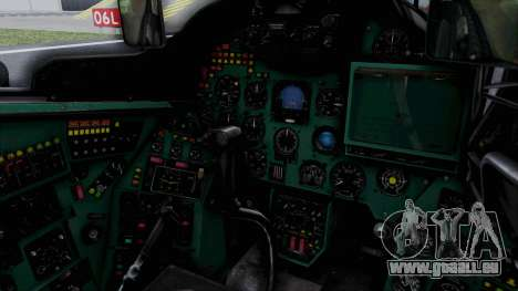 Mi-24V Soviet Air Force 0835 für GTA San Andreas Innenansicht