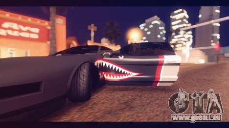Infernus Shark Edition by ZveR v1 pour GTA San Andreas vue arrière