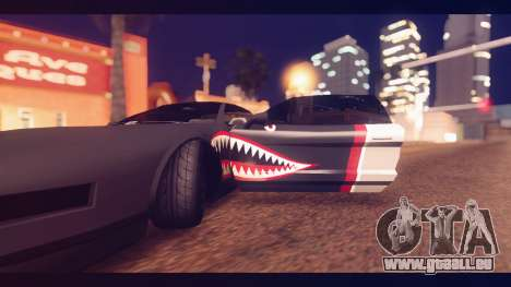 Infernus Shark Edition by ZveR v1 für GTA San Andreas Rückansicht