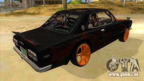 1971 Nissan GT-R Hakosuka pour GTA San Andreas vue de droite