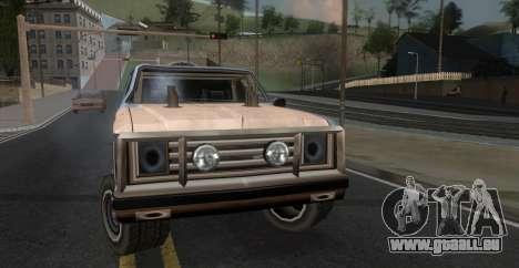 Derby Rancher pour GTA San Andreas sur la vue arrière gauche