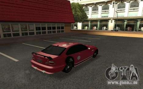 BMW M3 E46 Tunable pour GTA San Andreas vue de droite