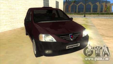 Dacia Logan Sport für GTA San Andreas Rückansicht