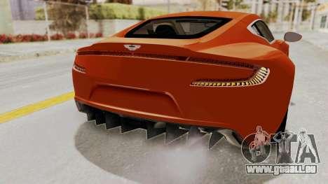 Aston Martin One-77 2010 Autovista Interior für GTA San Andreas Innenansicht