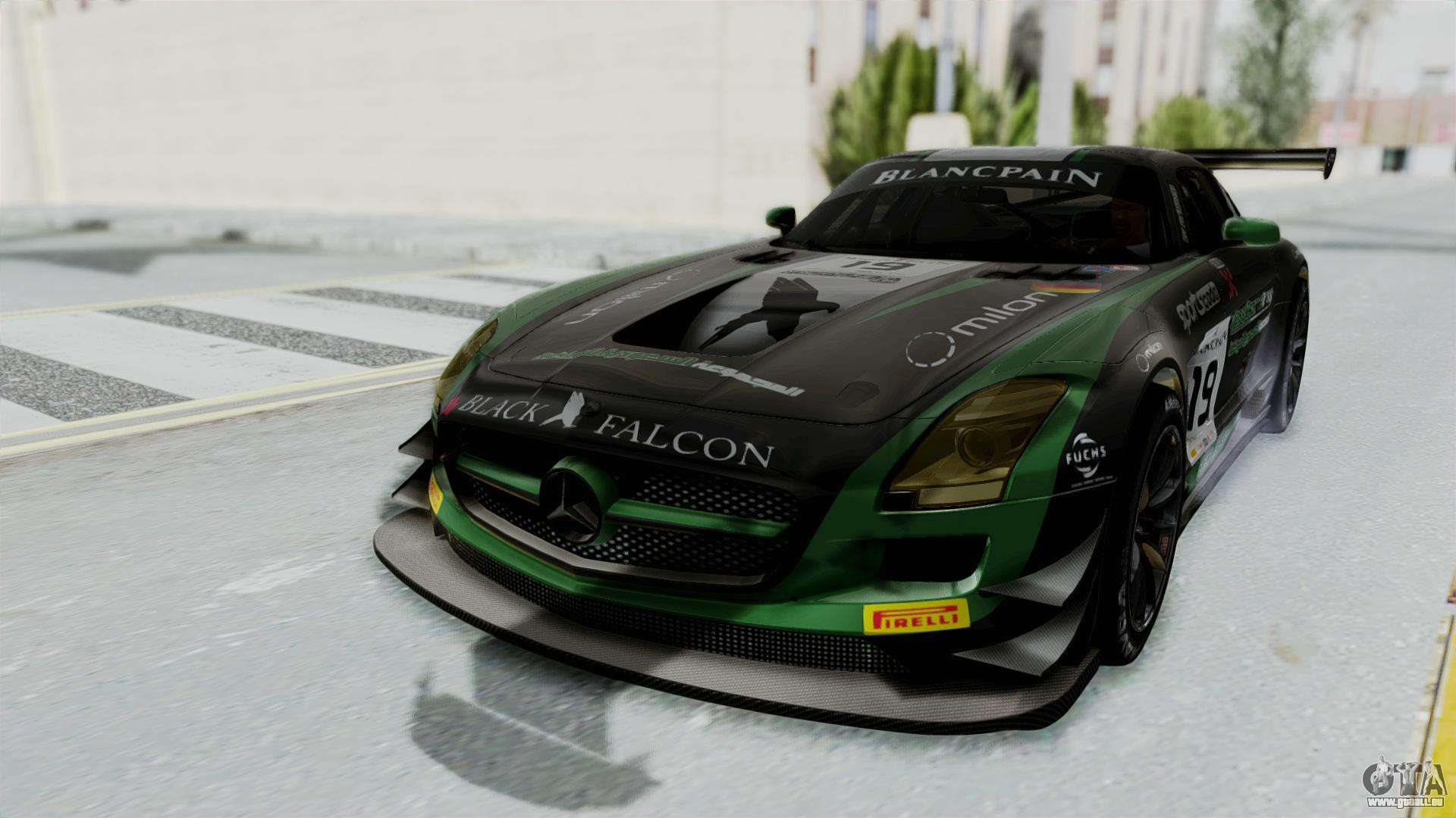 mercedes benz sls amg gt3 pj7 pour gta san andreas. Black Bedroom Furniture Sets. Home Design Ideas