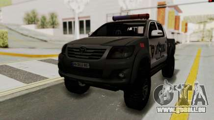 Toyota Hilux 4WD 2015 Georgia Police für GTA San Andreas