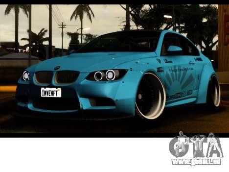 BMW M3 E92 Liberté à Pied LB Performance pour GTA San Andreas vue arrière