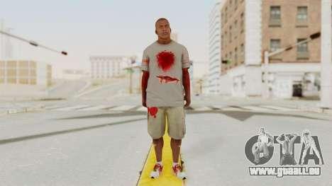 GTA 5 Franklin Zombie Skin für GTA San Andreas zweiten Screenshot
