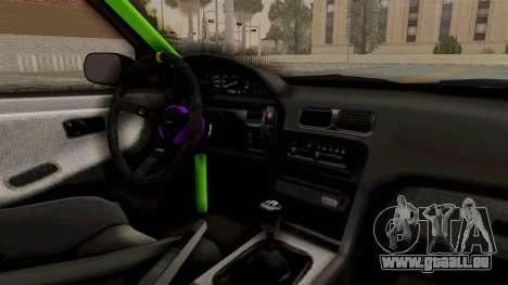 Nissan 240SX Drift Monster Energy Falken pour GTA San Andreas vue intérieure