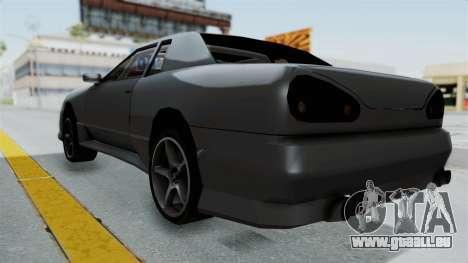 Elegy v2 pour GTA San Andreas sur la vue arrière gauche