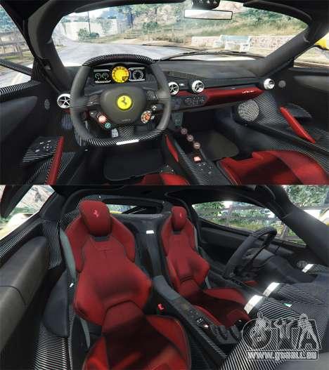 GTA 5 Ferrari LaFerrari arrière droit vue de côté