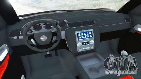 GTA 5 GMC Yukon Denali 2015 arrière droit vue de côté