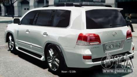 Lexus Lx 570 2014 sport pour GTA 4 est une gauche