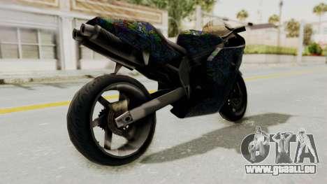 FCR-900 Stunt pour GTA San Andreas sur la vue arrière gauche