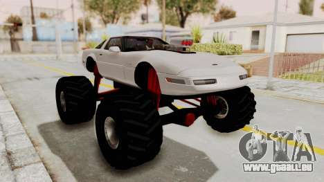 Chevrolet Corvette C4 Monster Truck für GTA San Andreas linke Ansicht