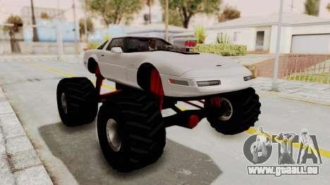 Chevrolet Corvette C4 Monster Truck pour GTA San Andreas laissé vue