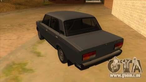 VAZ 2107 RUSSIE pour GTA San Andreas sur la vue arrière gauche
