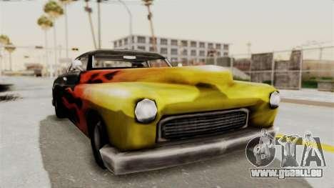 Beta VC Cuban Hermes pour GTA San Andreas vue de droite