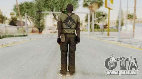 MGSV Phantom Pain RC Soldier T-shirt v2 für GTA San Andreas dritten Screenshot
