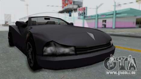 GTA 3 Cheetah Topless für GTA San Andreas