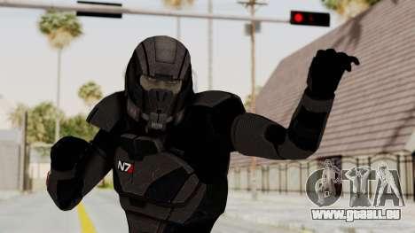 Mass Effect 2 Shepard Default N7 Armor Helmet für GTA San Andreas