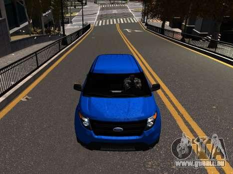 Ford Explorer 2013 pour GTA 4 Vue arrière de la gauche