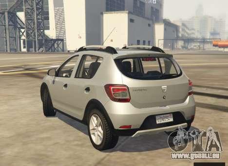 GTA 5 Dacia Sandero Stepway 2014 linke Seitenansicht