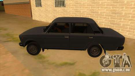 VAZ 2107 RUSSIE pour GTA San Andreas laissé vue