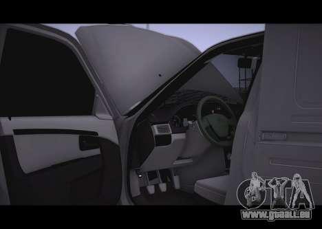 Lada Priora Stok Budka pour GTA San Andreas vue arrière