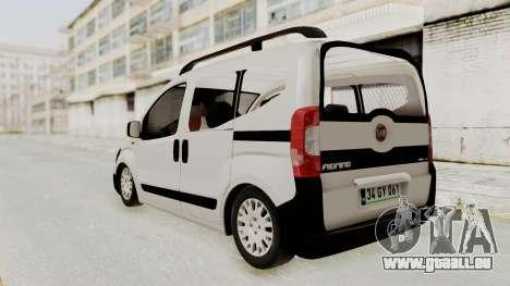 Fiat Fiorino 2014 pour GTA San Andreas sur la vue arrière gauche