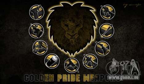 Golden weapon pack für GTA San Andreas