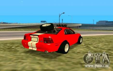 Ford Mustang 1999 für GTA San Andreas Rückansicht