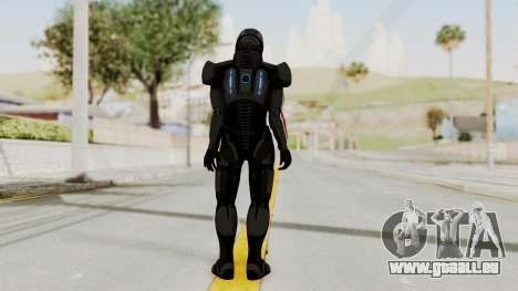 Mass Effect 2 Shepard Default N7 Armor Helmet für GTA San Andreas dritten Screenshot